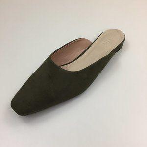 NWOB TIJN Vegan Suede Slip-On Mule Sandals Shoes